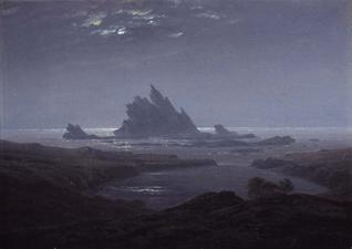Caspar David Friedrich: Rocky reef on the sea shore, circa 1824